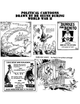 Dr. Seuss World War II Political Cartoons