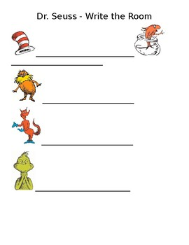 Dr. Seuss - Write the Room