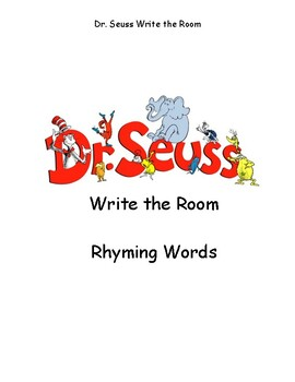 Dr. Seuss Write the Room Rhyming Words