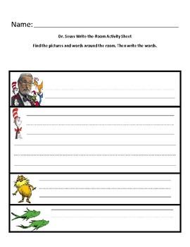 Dr. Seuss Write the Room Student Sheet