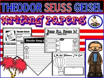 Dr. Seuss Writing Papers | Read Across America | Theodor Seuss Geisel