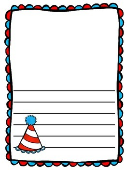 Dr. Seuss Writing Paper