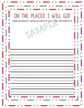 """Dr. Seuss Writing Prompt """"Oh the Places"""""""