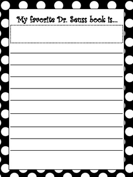 Dr.Seuss Writing Prompt Paper READ! Bulletin Board