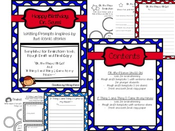 Dr. Seuss Writing Templates