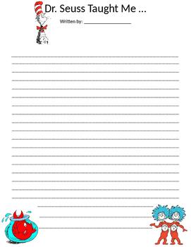 Dr. Seuss Writing Template by J F | Teachers Pay Teachers
