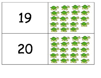 Good Doctor Turtle book numbers 1-20 counting match correspondence ESL hands on