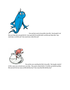Dr. Seuss _Systems of Equations