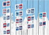 Seuss like alphabet letters word wall banner classroom setup back to school