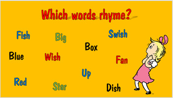 Dr. Seuss and Rhyming Power Point
