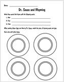 Dr. Seuss and Rhyming Worksheet