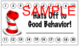 Dr.Seuss behavior punch card Cat in the Hat back to school
