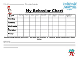 Dr. Seuss daily behavior form
