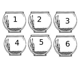 Dr. Seuss fish bowl number cards