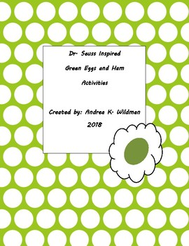 Dr. Seuss inspired Activity Pages for Green Eggs and Ham