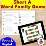 Birthday fun!- Digital & Printable Short A Word Family Gam