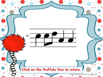 Speak for the Trees Melody Reading Practice {sol mi la}
