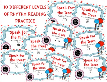 Speak for the Trees Rhythm Reading Practice BUNDLE