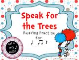 Speak for the Trees Rhythm Reading Practice {ta titi rest}