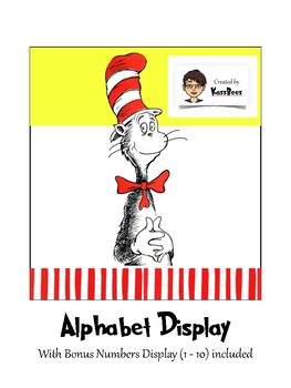Dr Seuss inspired alphabet display cards