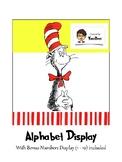 Dr Seuss inspired alphabet display cards