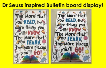 Dr Seuss inspired bulletin board display ~ Freebie #ausbts18