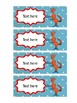 Dr Seuss inspired editable name labels