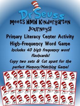 Dr. Seuss Literacy Center Kindergarten High-Frequency Words