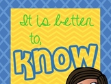 Dr Seuss quote poster. It's better to know how to learn...