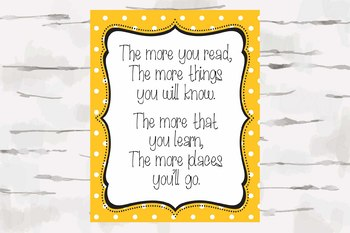 Dr. Seuss quote with colorful polka dot background, Teacher decor, Classroom