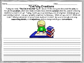 """Dr. Seuss's Cat in the Hat STEAM Response: My """"Cat""""chy Creation"""