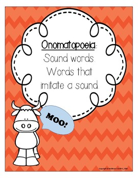 Dr. Seuss's Mr. Brown Can Moo! Can You? Onomatopoeia Activity