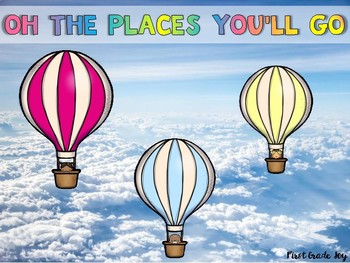 Dr. Seuss's Oh The Places You'll Go: Reader's Response and Activities