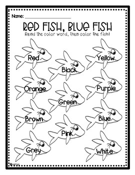 Dr. Seuss's Red Fish, Blue Fish Color Words