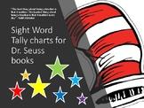 Dr. Seuss sight word tally charts