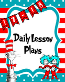 Dr. Seuss theme Daily Lesson Binder Cover