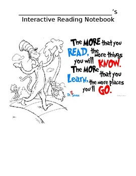 Dr. Seuss theme Interactive Notebook Cover