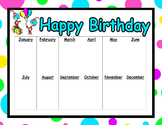 Dr Seuss theme student birthday poster EDITABLE
