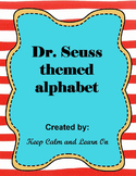 Dr. Seuss themed Alphabet line