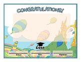 Dr. Seuss themed diploma BLANK TEMPLATE - Oh the Places