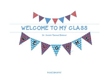 Seuss Inspired Welcome Banner