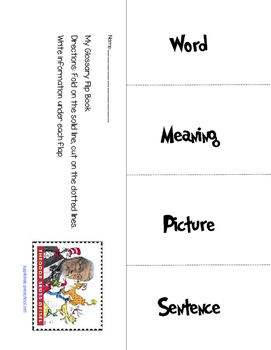 Dr. Seuss word meaning flipbook