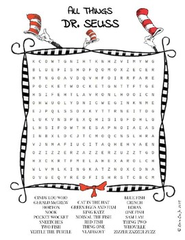 picture about Dr Seuss Word Search Printable called Dr. Seuss term glimpse puzzle worksheet