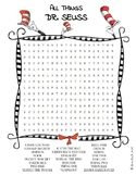 Dr. Seuss word search puzzle worksheet