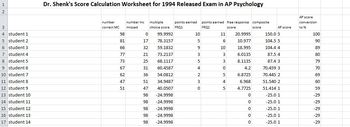 Dr. Shenk's sample Psych exam calculator (1994&1999)