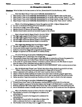 Dr. Strangelove Film (1964) 15-Question Multiple Choice Quiz