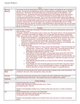 Dr Suess 6 day Lesson Plans Journeys 1st grade