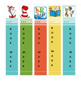 Dr. Suess Book Marks