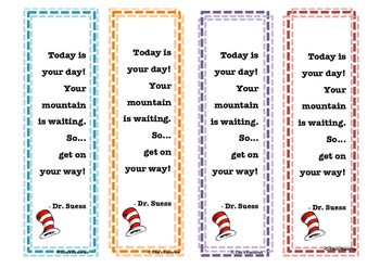 Dr. Suess Bookmarks - Climbing Mountains
