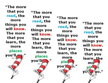 Dr. Suess Bookmarks